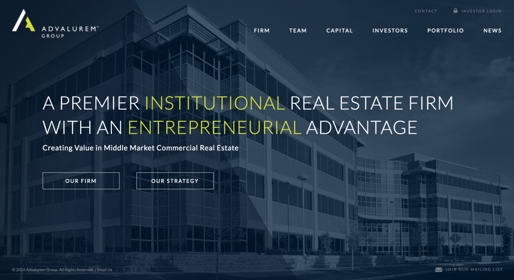 Advalurem Group Website