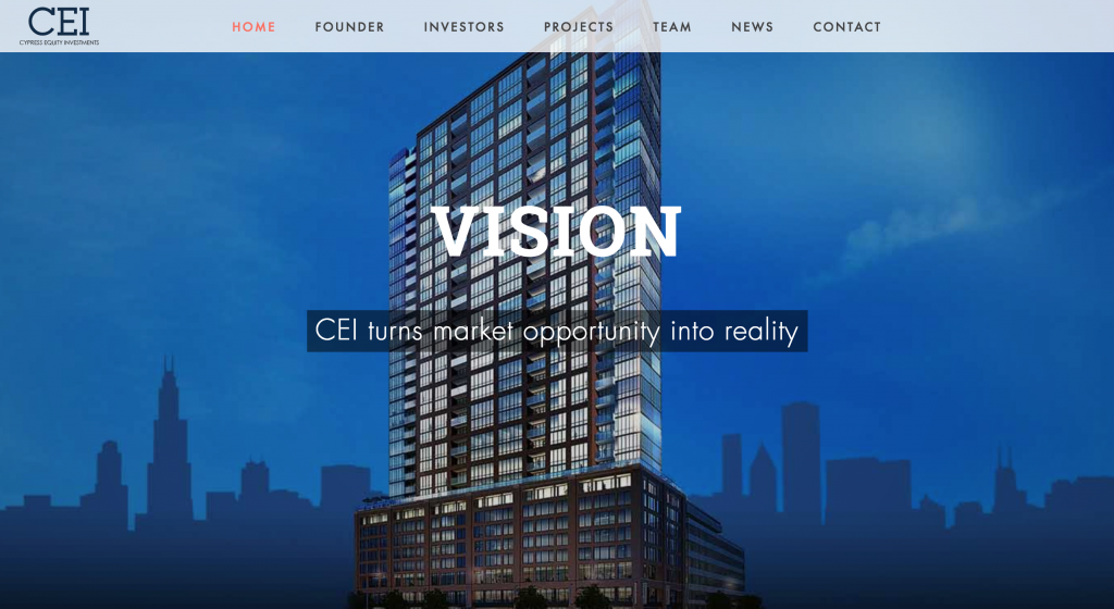Cypress Equity Investments (CEI) Website