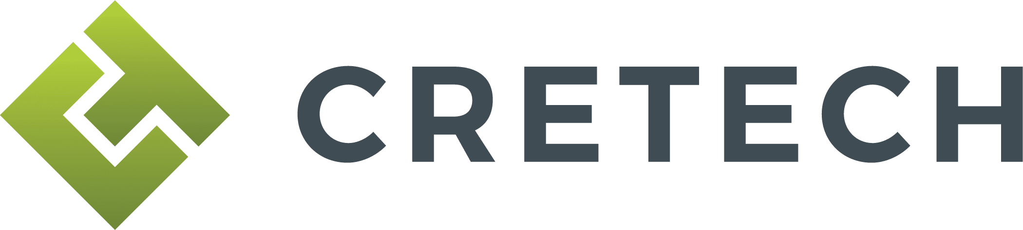 CREtech Logo Horizontal Blue Green