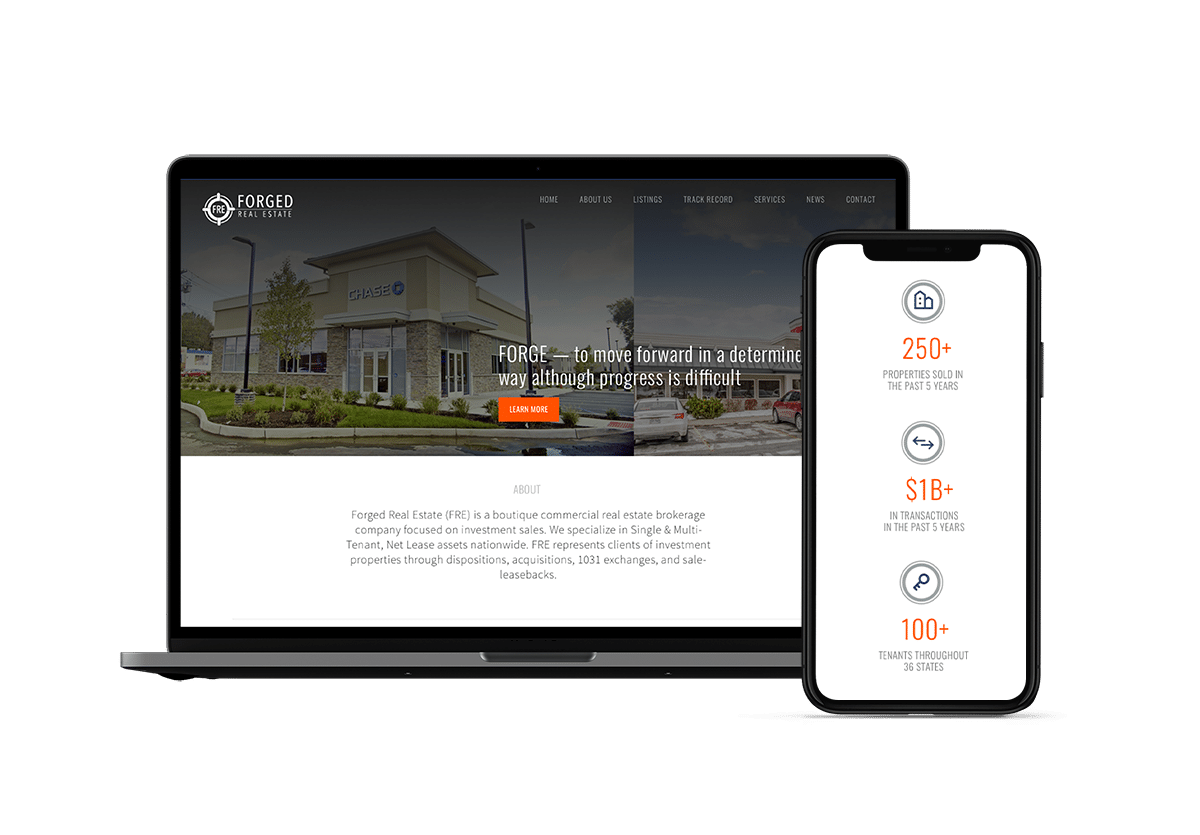 Forged commercial real estate new website inMotion Real Estate Media