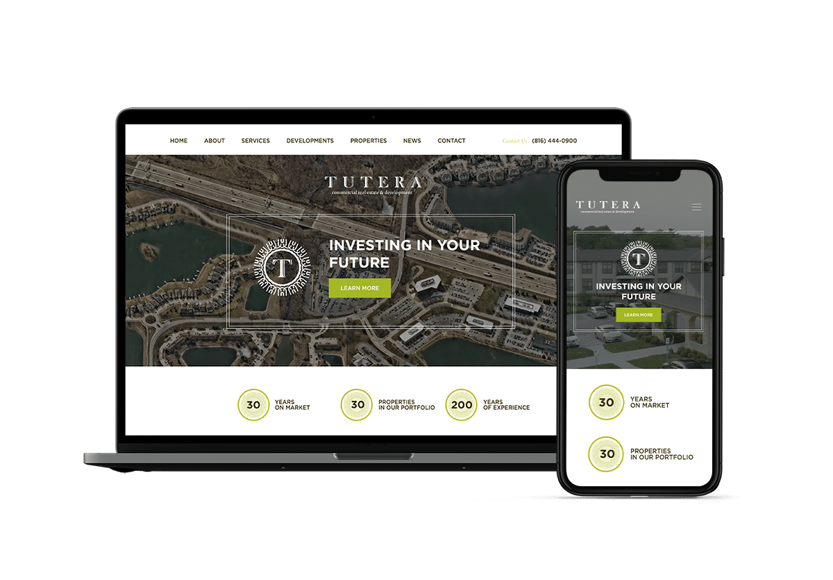 Tutera Kansas City Commercial Real Estate Website Digital Marketing inMotion Real Estate