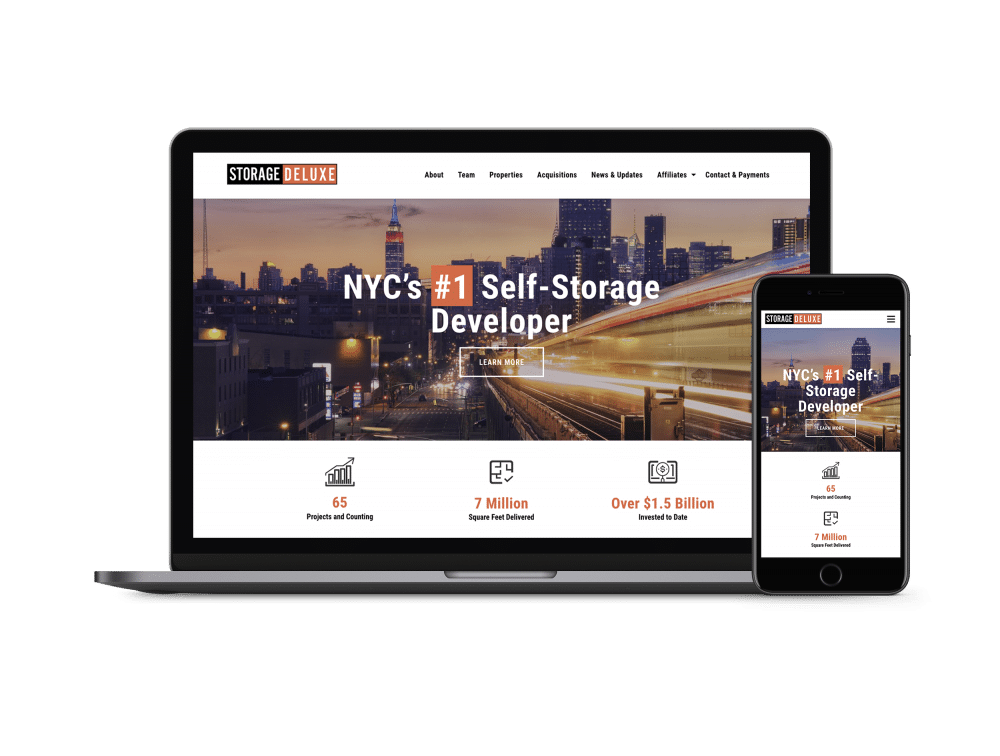 Storage Deluxe NYC inMotion Website
