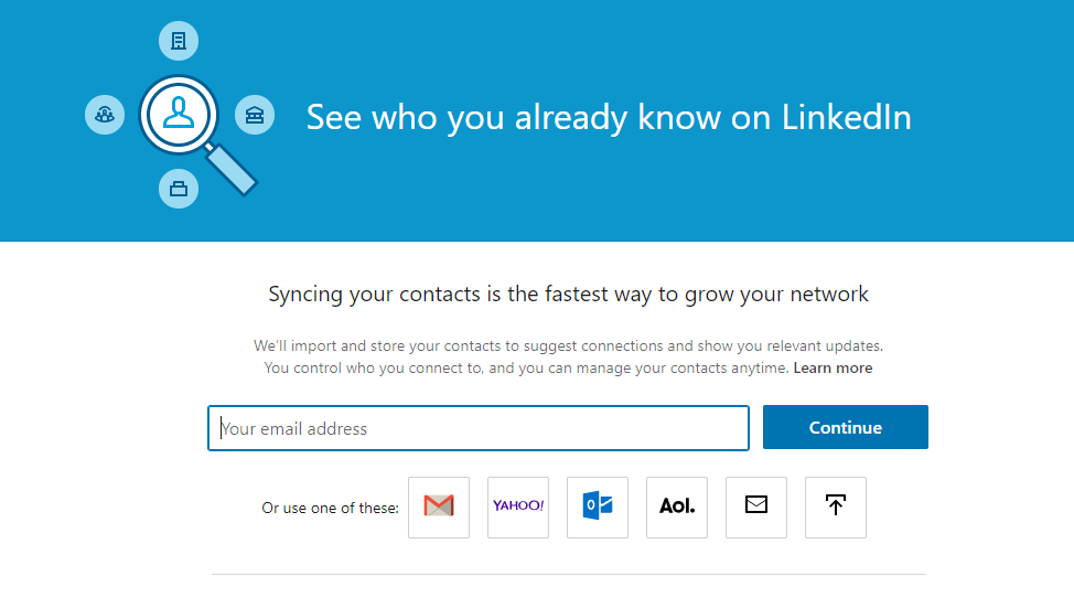 how to import contacts to linkedin